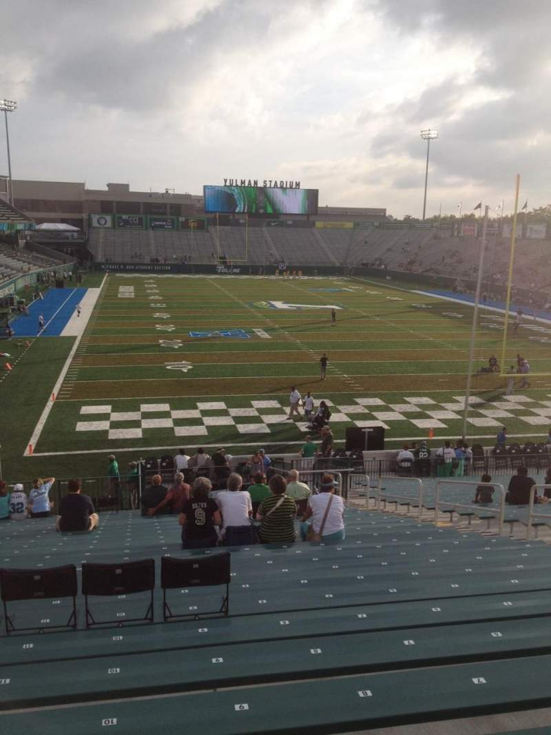 Seating view for Yulman Stadium Section 112 Row II Seat 10