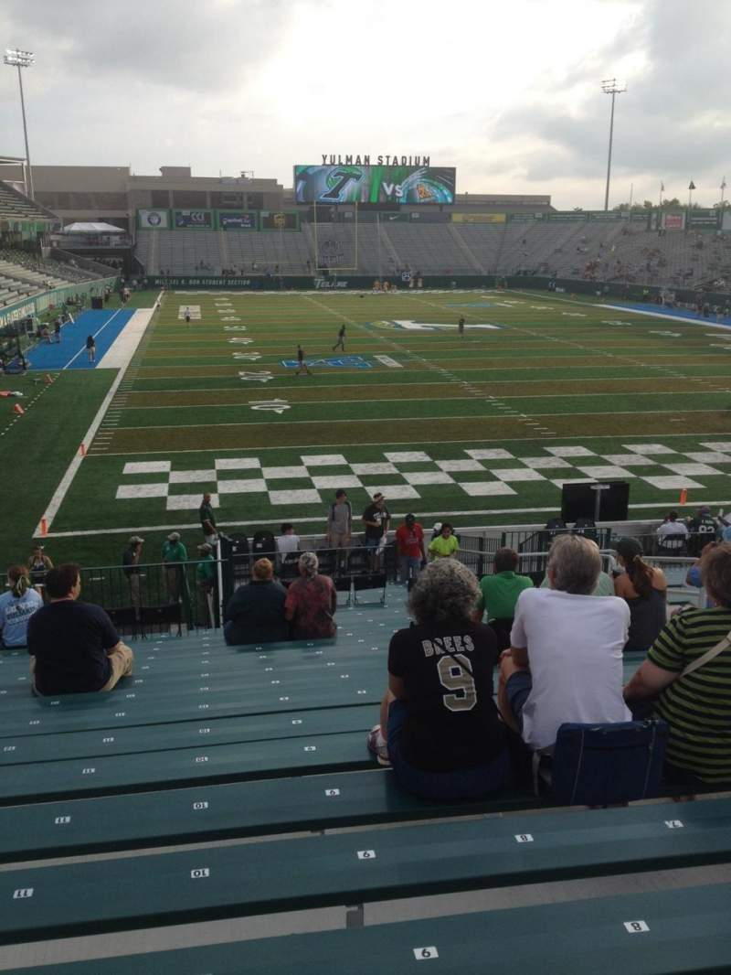 Seating view for Yulman Stadium Section 112 Row AA Seat 10
