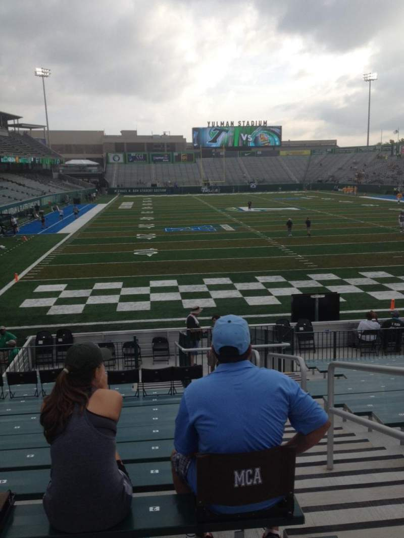 Seating view for Yulman Stadium Section 112 Row U Seat 2