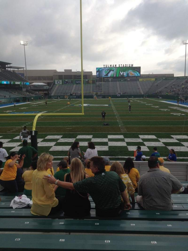 Seating view for Yulman Stadium Section 114 Row N Seat 16