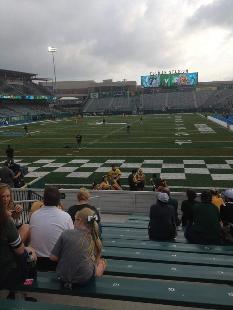 Seating view for Yulman Stadium Section 115 Row N Seat 19