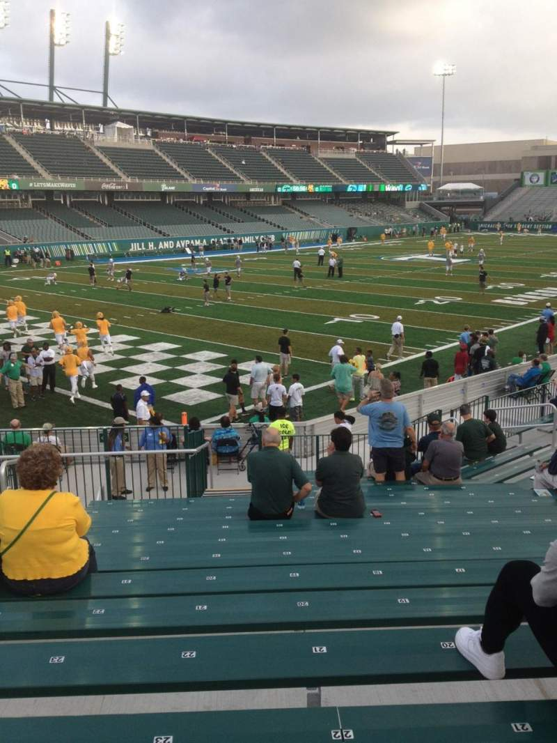 Seating view for Yulman Stadium Section 117 Row V Seat 26