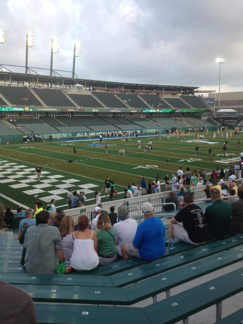 Seating view for Yulman Stadium Section 117 Row V Seat 14