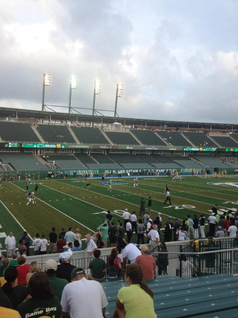 Seating view for Yulman Stadium Section 118 Row T Seat 12