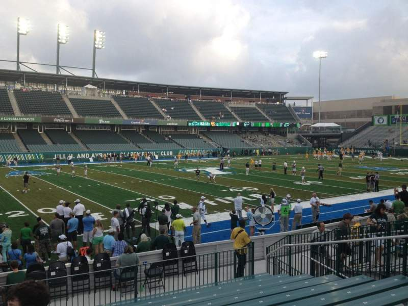 Seating view for Yulman Stadium Section 119 Row P Seat 14