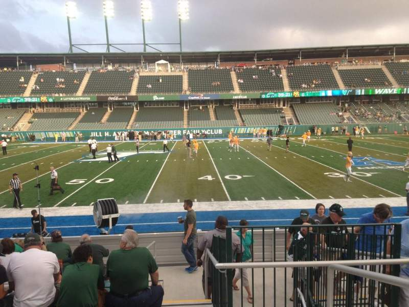 Seating view for Yulman Stadium Section 121 Row N Seat 1