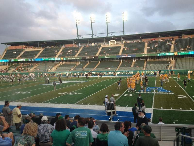 Seating view for Yulman Stadium Section 123 Row N Seat 4