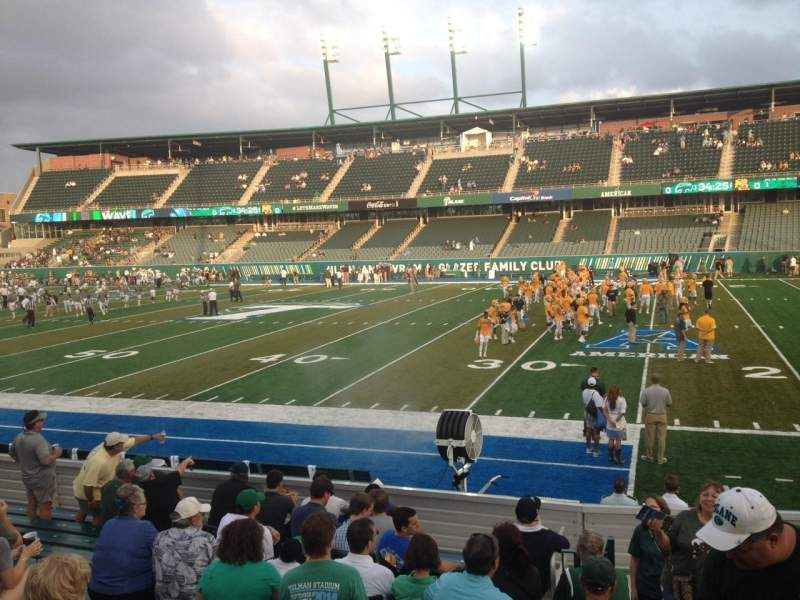 Seating view for Yulman Stadium Section 122 Row N Seat 4