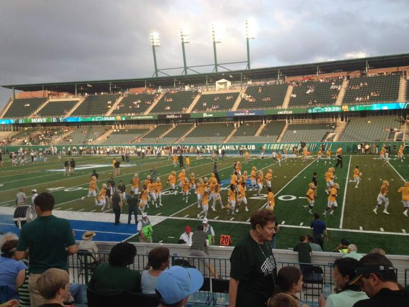 Seating view for Yulman Stadium Section 123 Row O Seat 24