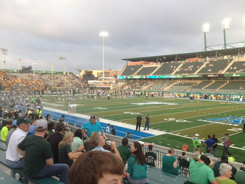 Seating view for Yulman Stadium Section 123 Row P Seat 12