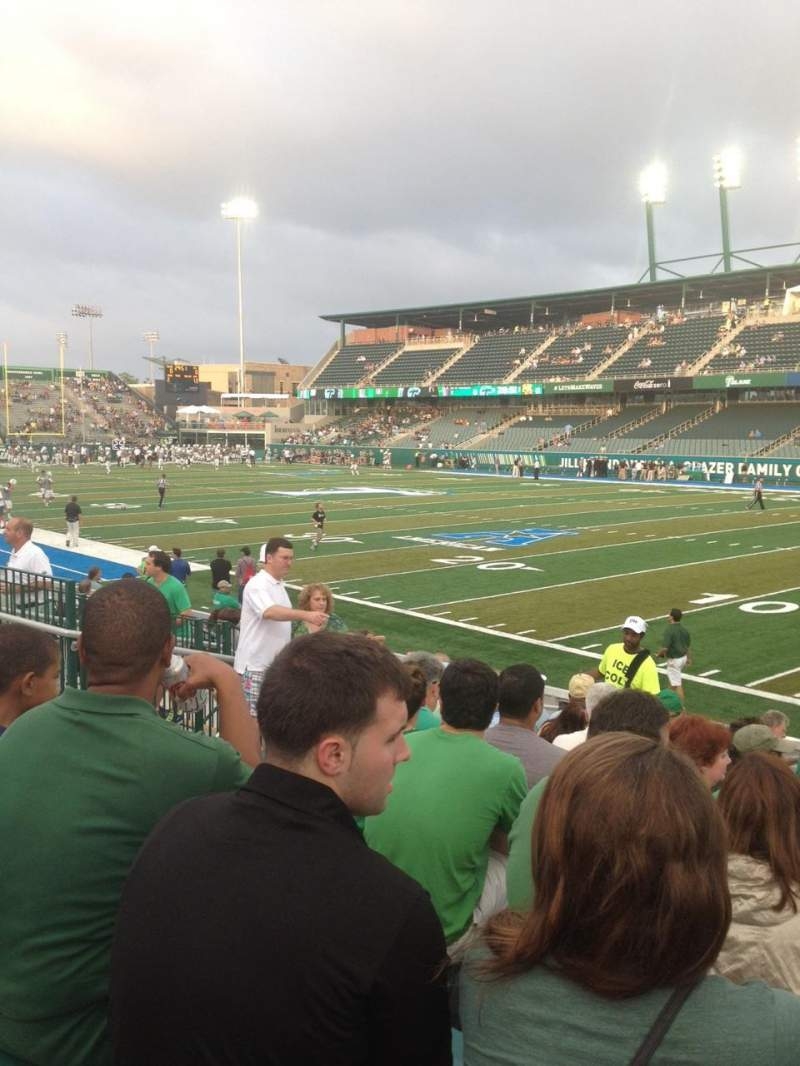 Seating view for Yulman Stadium Section 124 Row N Seat 12