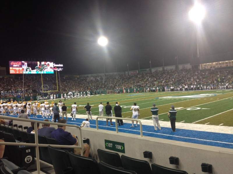 Seating view for Yulman Stadium Section 108 Row D Seat 9