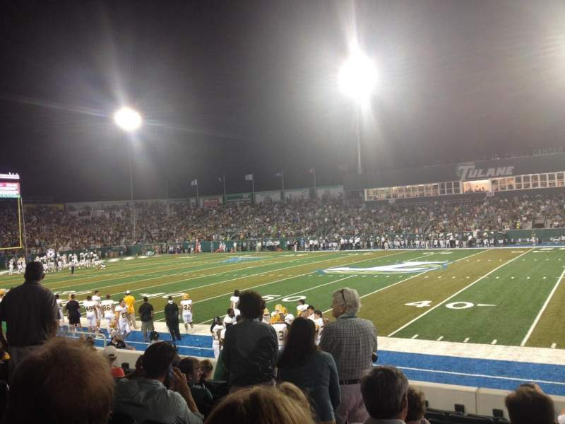Seating view for Yulman Stadium Section 107 Row J Seat 2