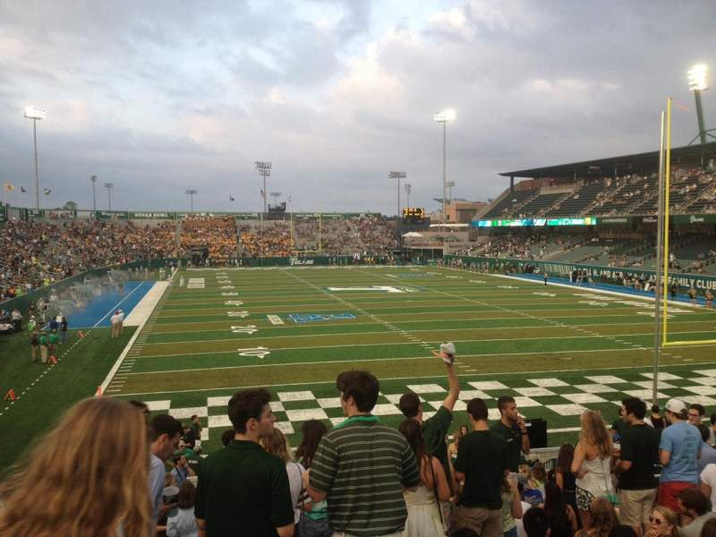 Seating view for Yulman Stadium Section 127 Row X Seat 15