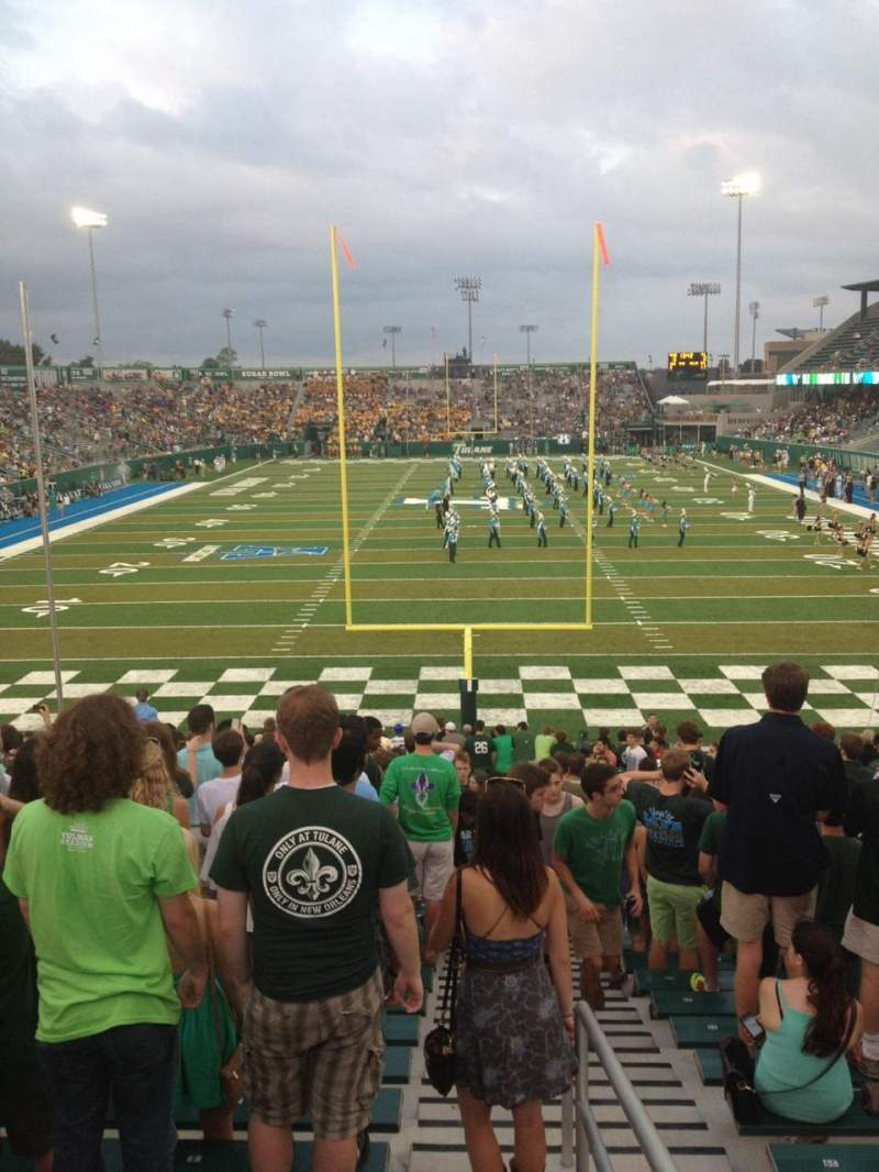 Seating view for Yulman Stadium Section 128 Row DD Seat 1