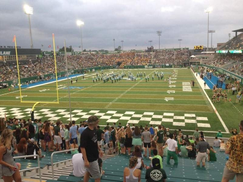 Seating view for Yulman Stadium Section 130 Row FF Seat 14