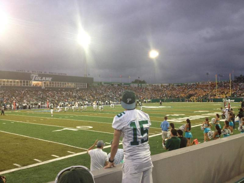 Seating view for Yulman Stadium Section 102 Row C Seat 17