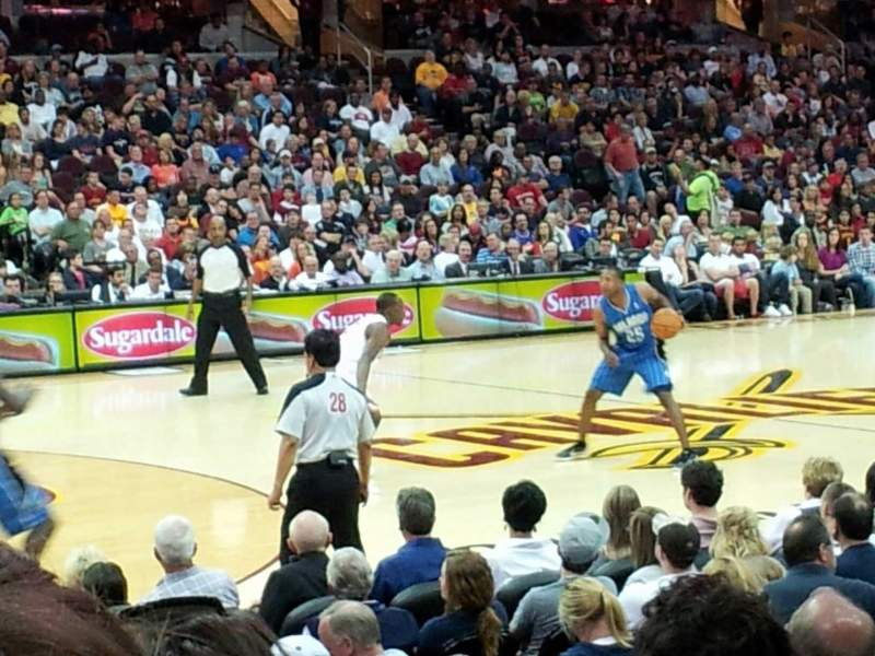 Seating view for Quicken Loans Arena Section 107 Row 10 Seat 9