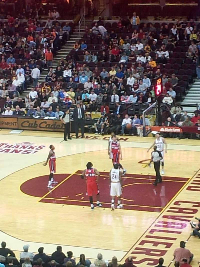 Seating view for Quicken Loans Arena Section 111 Row 28 Seat 7