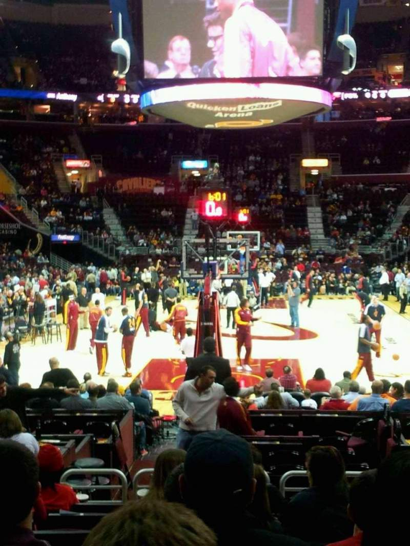 Seating view for Quicken Loans Arena Section 100 Row 9 Seat 13
