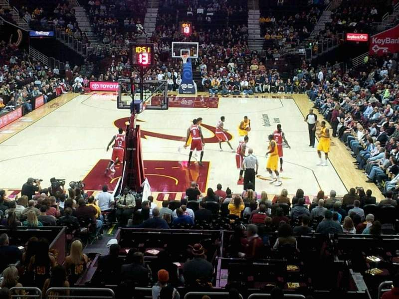 Seating view for Quicken Loans Arena Section 100 Row 15 Seat 14