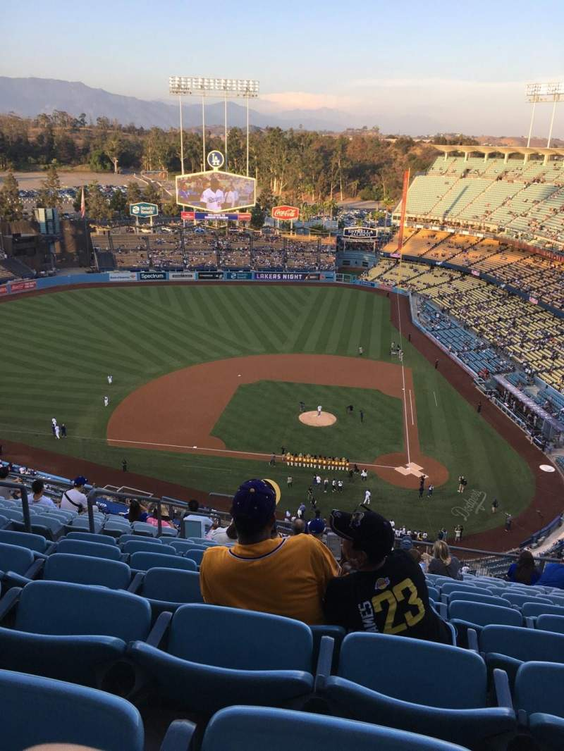 Dodger Stadium, section: Top Deck, row: N, seat: 21