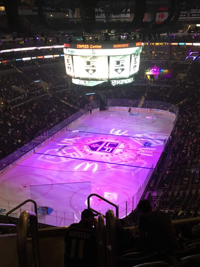Seating view for Staples Center Section 307 Row 7 Seat 4