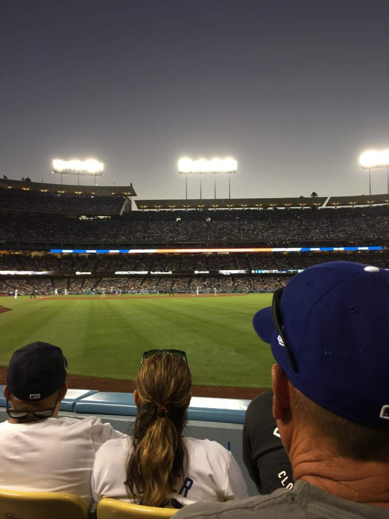 Seating view for Dodger Stadium Section 52fd Row B Seat 3
