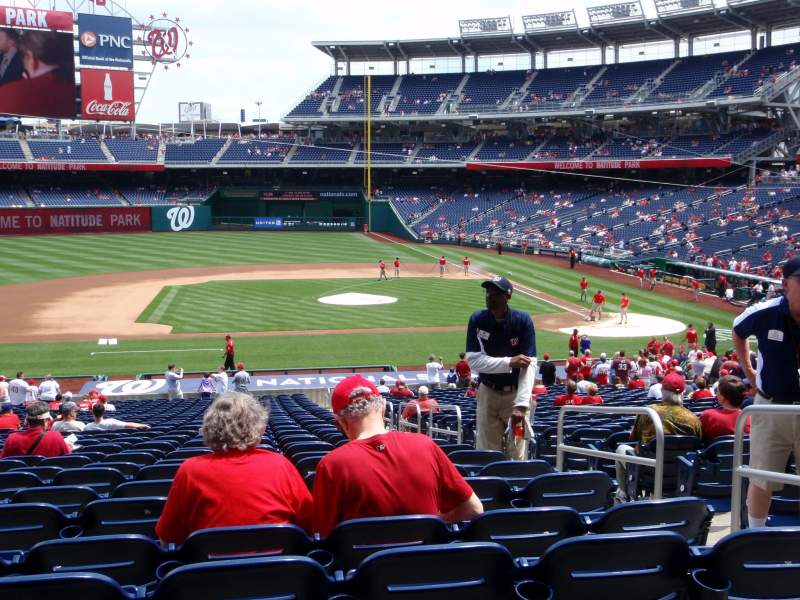 Seating view for Nationals Park Section 116 Row SS Seat 4