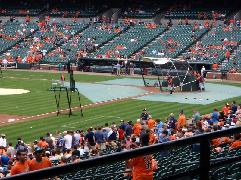 Seating view for Oriole Park at Camden Yards Section 61 Row 3 Seat 19