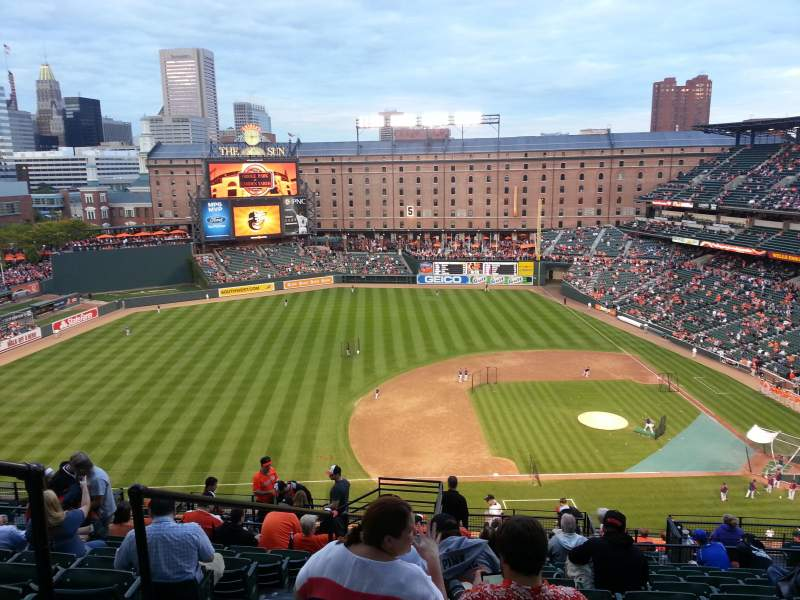 Oriole Park At Camden Yards Section 354 Home Of