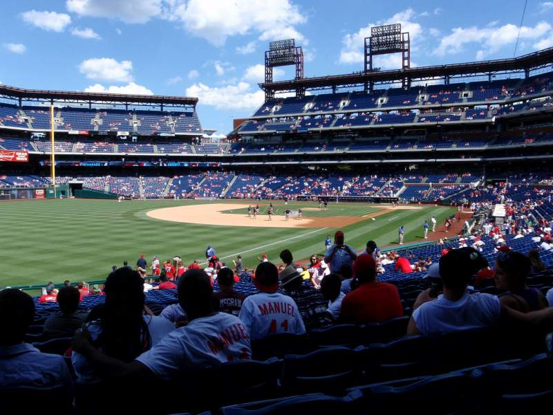 Seating view for Citizens Bank Park Section 138 Row 31 Seat 5
