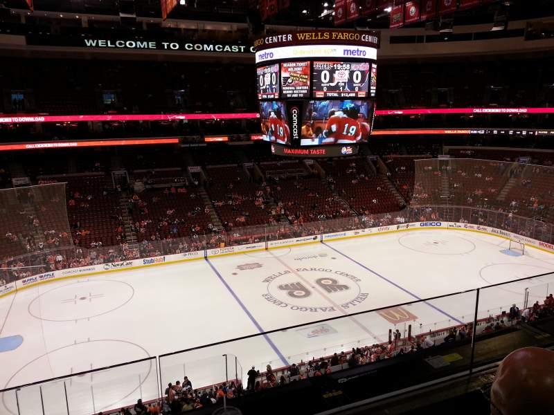 Seating view for Wells Fargo Center Section 223 Row 2 Seat 17