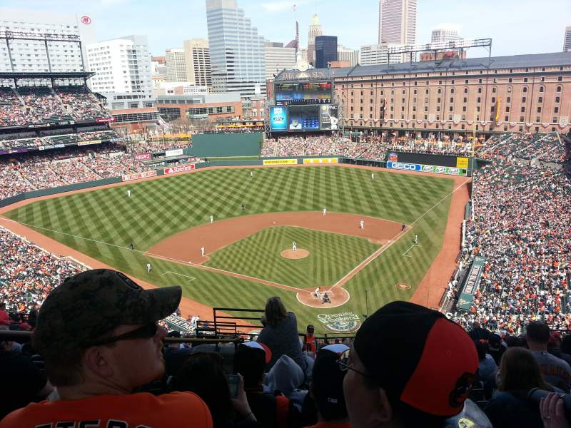 Seating view for Oriole Park at Camden Yards Section 340 Row 20 Seat 19