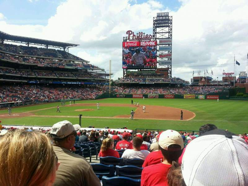Seating view for Citizens Bank Park Section 115 Row 30 Seat 18