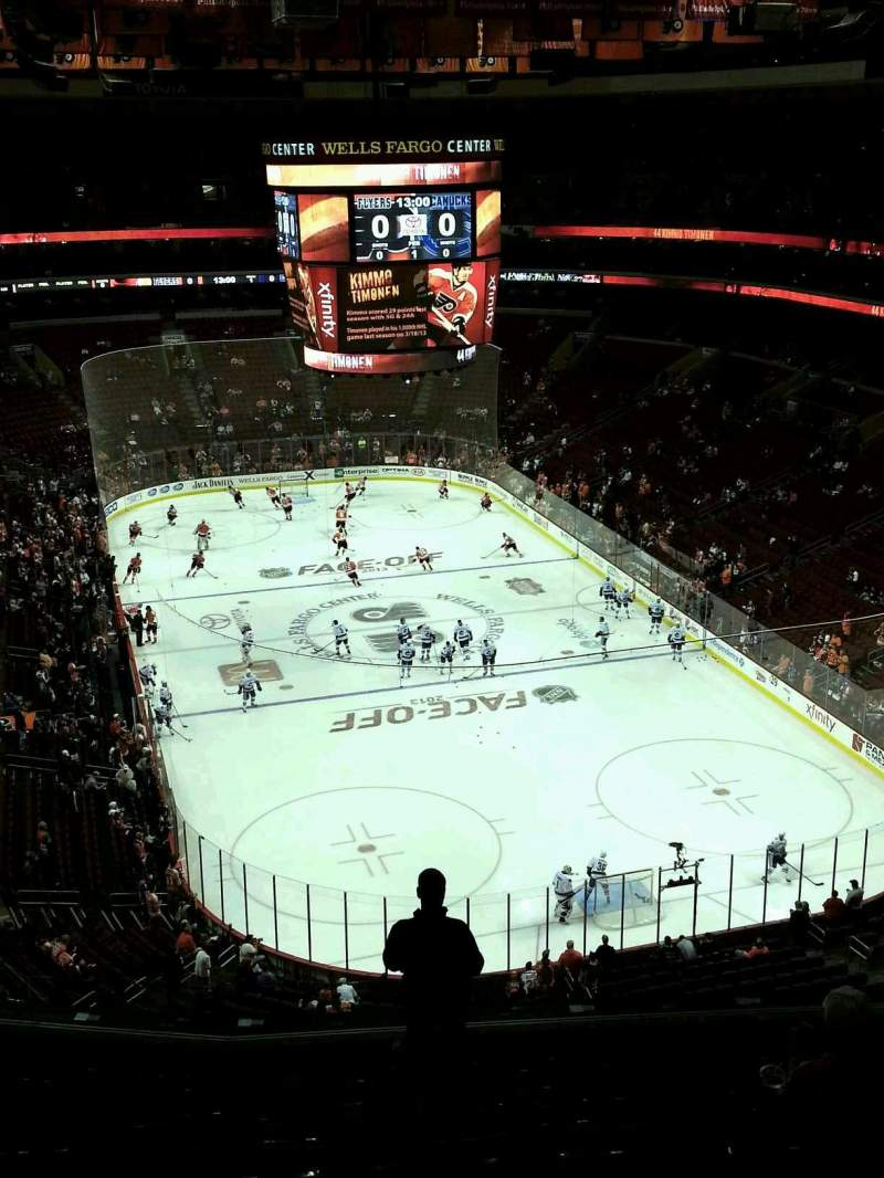 Seating view for Wells Fargo Center Section 206 Row 10 Seat 9