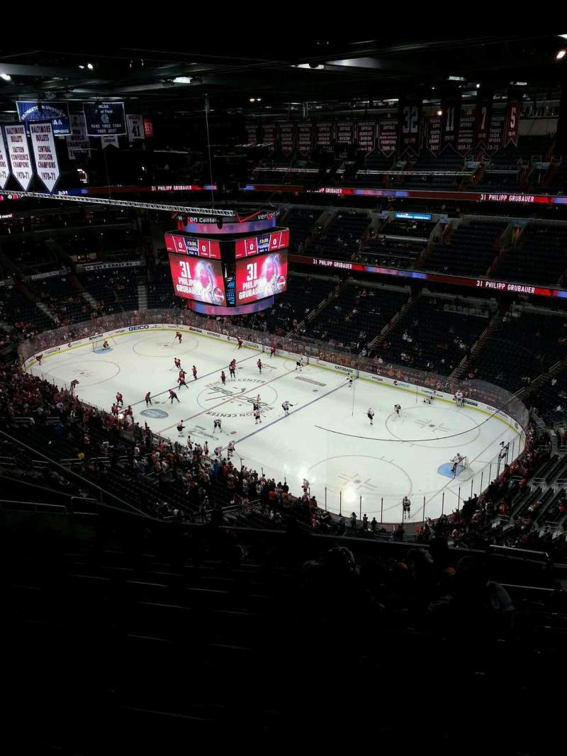 Seating view for Verizon Center Section 404 Row P Seat 16