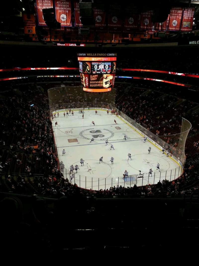 Seating view for Wells Fargo Center Section 206 Row 10 Seat 10