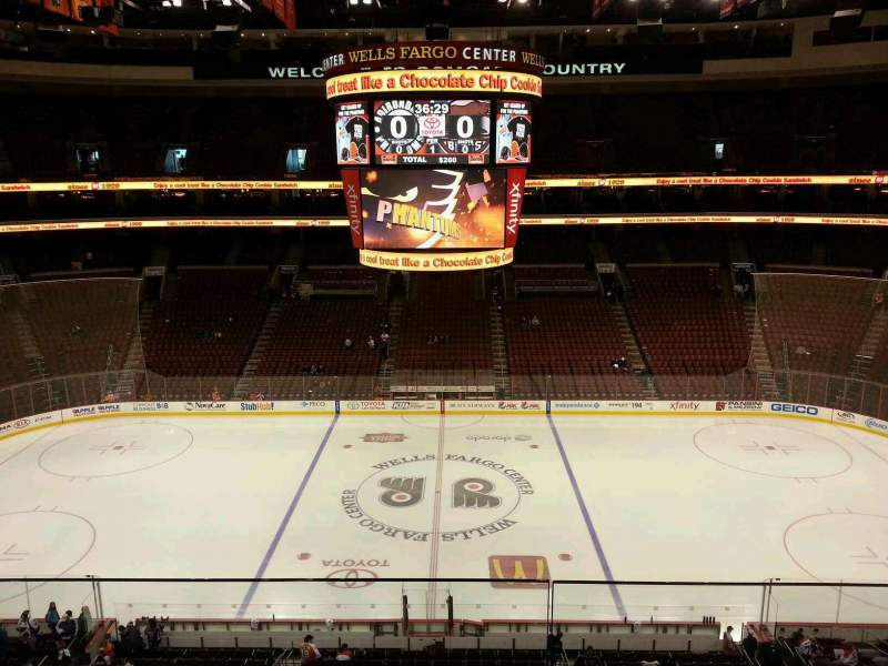 Seating view for Wells Fargo Center Section 201 Row 2 Seat 11