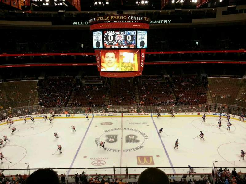 Seating view for Wells Fargo Center Section 201 Row 2 Seat 10