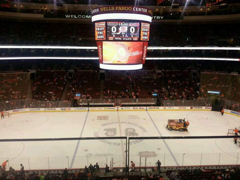 Seating view for Wells Fargo Center Section 213 Row 1 Seat 3