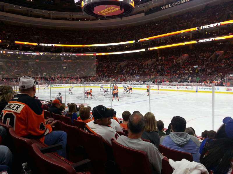 Seating view for Wells Fargo Center Section 115 Row 8 Seat 14