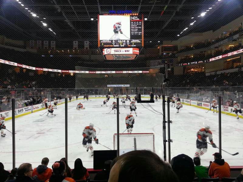 Seating view for PPL Center Section 121 Row 7 Seat 12
