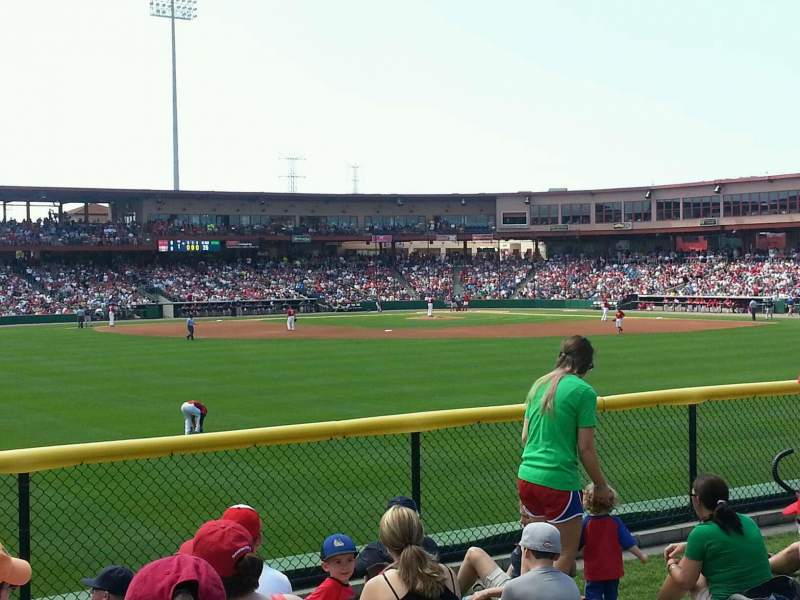 Seating view for Spectrum Field Section Berm