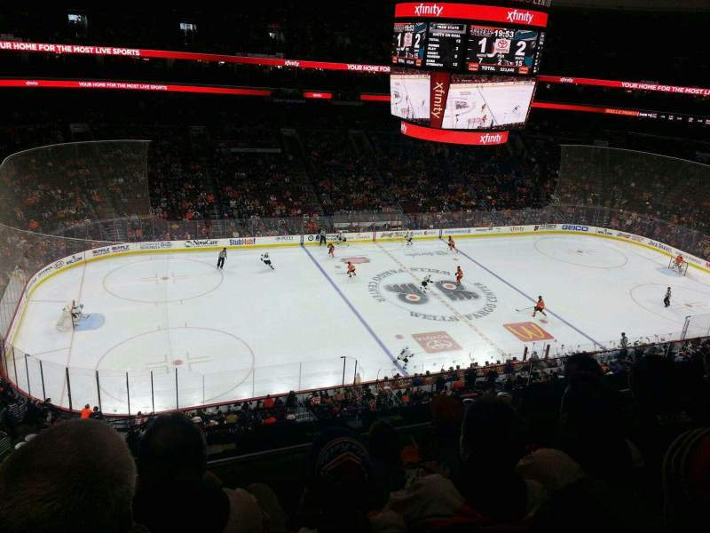 Seating view for Wells Fargo Center Section 223 Row 4 Seat 6