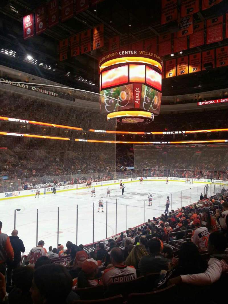 Seating view for Wells Fargo Center Section 117 Row 17 Seat 2