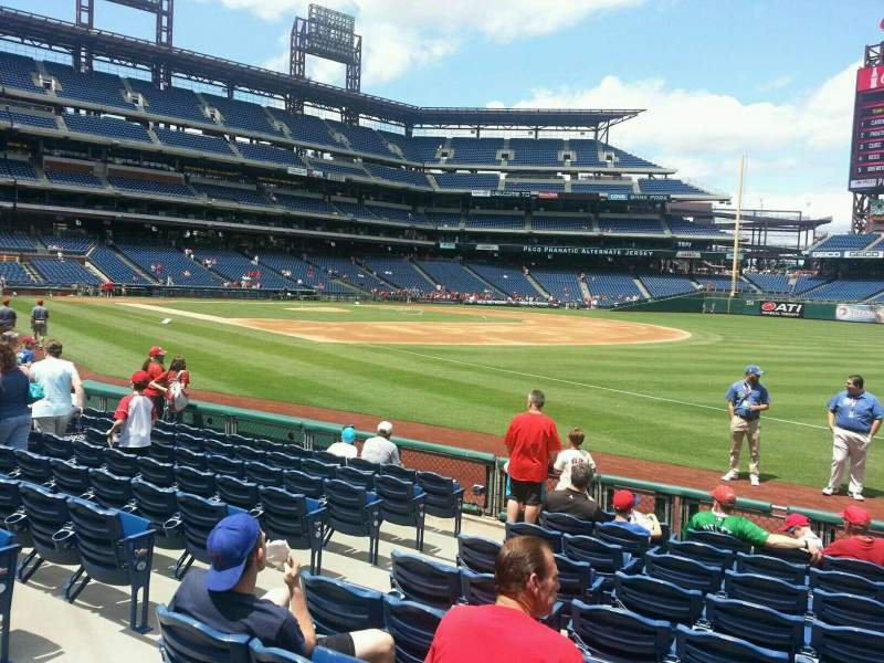 Seating view for Citizens Bank Park Section 111 Row 10 Seat 8