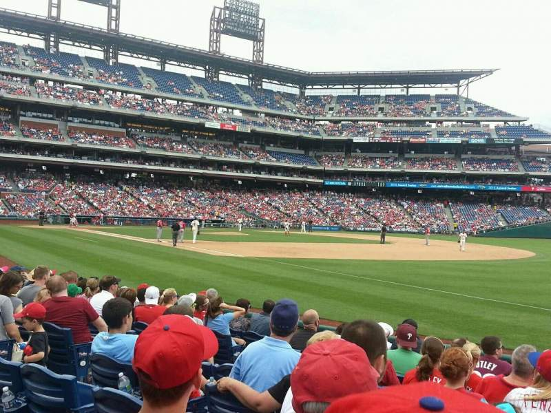 Seating view for Citizens Bank Park Section 111 Row 10 Seat 6