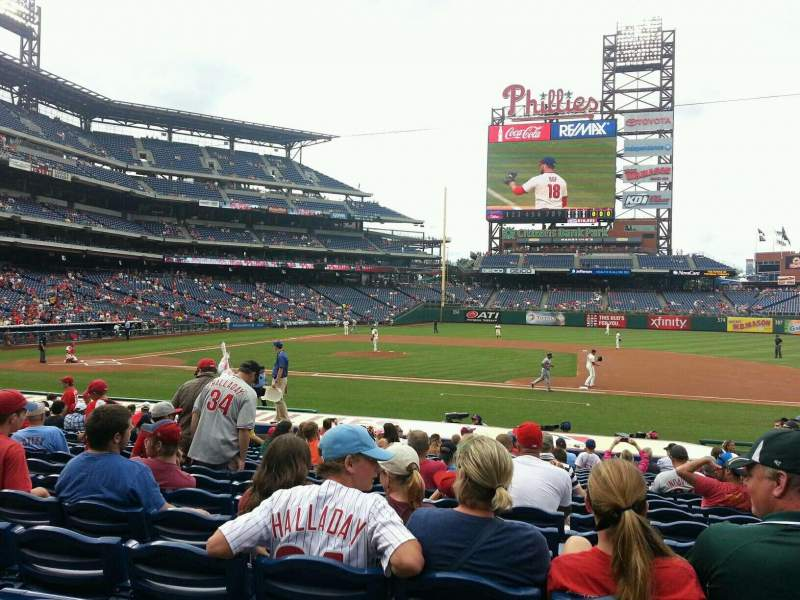 Seating view for Citizens Bank Park Section 116 Row 20 Seat 6