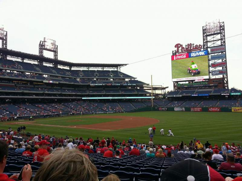 Seating view for Citizens Bank Park Section 112 Row 30 Seat 6